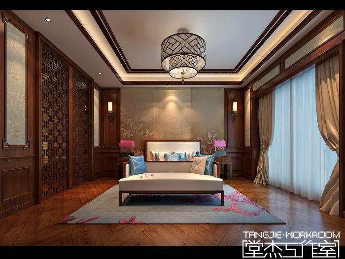 碧桂园325平新中式风格效果图装修 别墅图片大全 新中式风