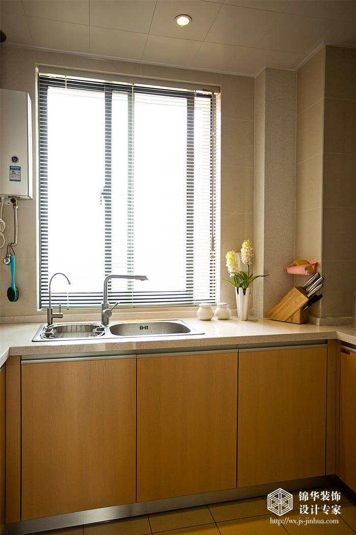 蓉湖壹号130平现代简约风格实景图三室二厅二卫装修案例效