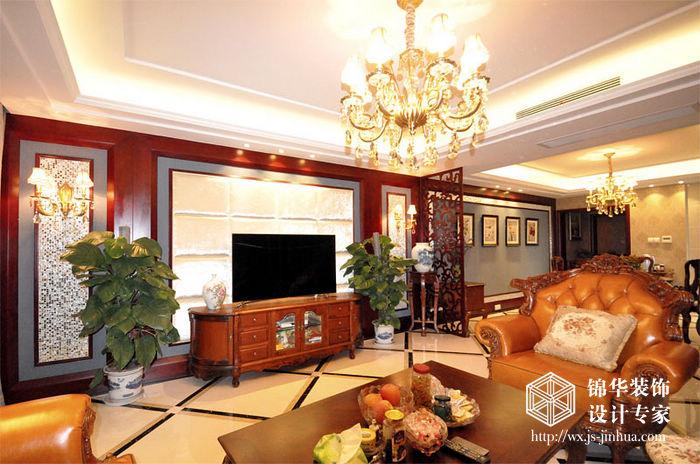 山水湖滨143平三房两厅两卫欧式风格实景样板间