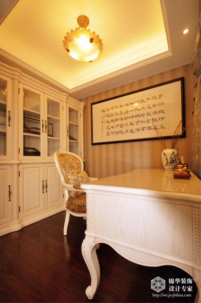 山水湖滨143平三房两厅两卫欧式风格实景样板间装修 两室两厅装修效高清图片