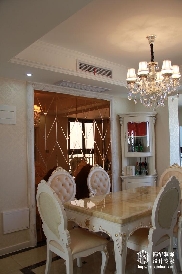 衛簡歐風格實景圖裝修-三室兩廳裝修效果圖-簡歐風格