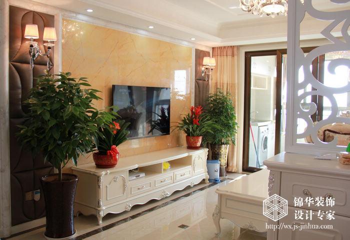 三室两厅装修效果图 简欧风格 无锡锦华装饰