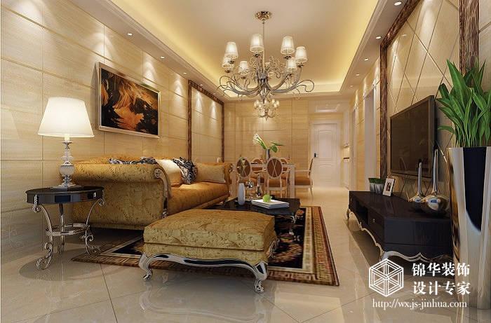 格效果图装修 两室两厅装修效果图 简欧风格 无锡锦华装饰