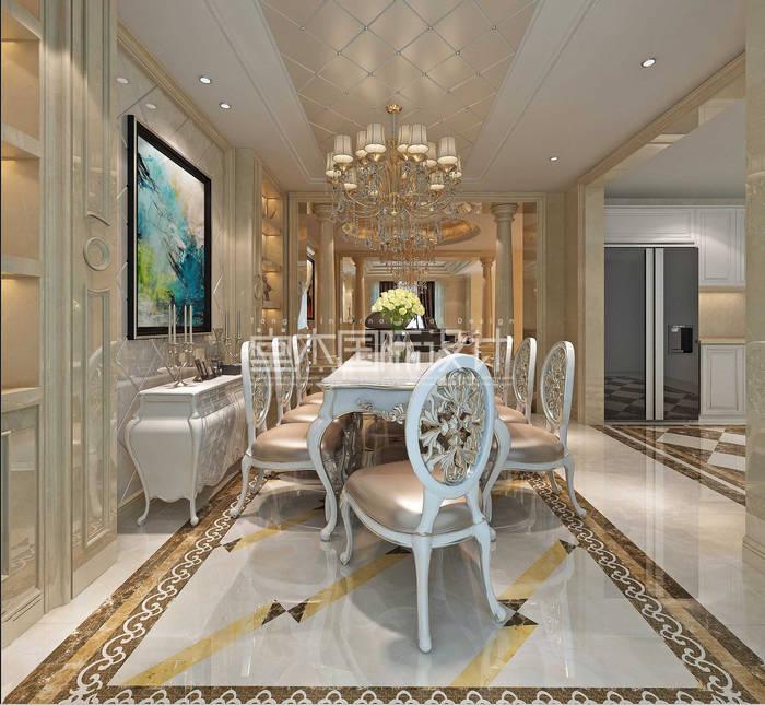湖尚郡450平欧式奢华风格效果图装修 别墅图片大全 欧式古典风格