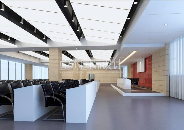 办公楼装修效果图装修-大户型-现代简约