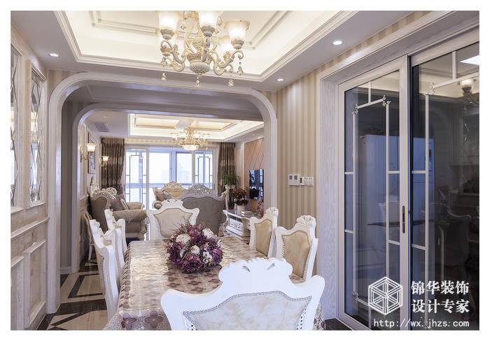 西水东176平四室两厅两卫简欧风格实景样板间装修-大户型-简欧风格图片