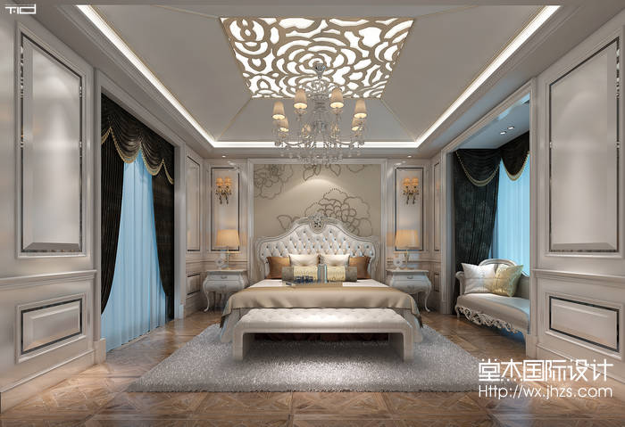 龙湖滟澜山320平欧式风格效果图装修-别墅-欧式古典