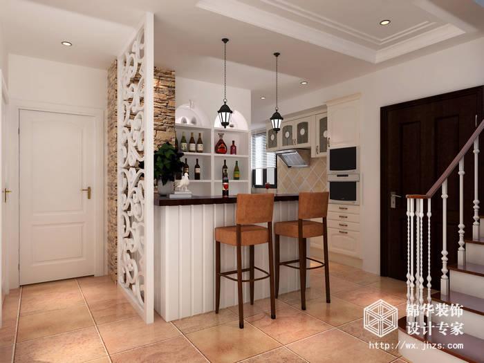 苏宁天氿御城149平复式美式风格效果图装修-三室两厅-美式田园图片