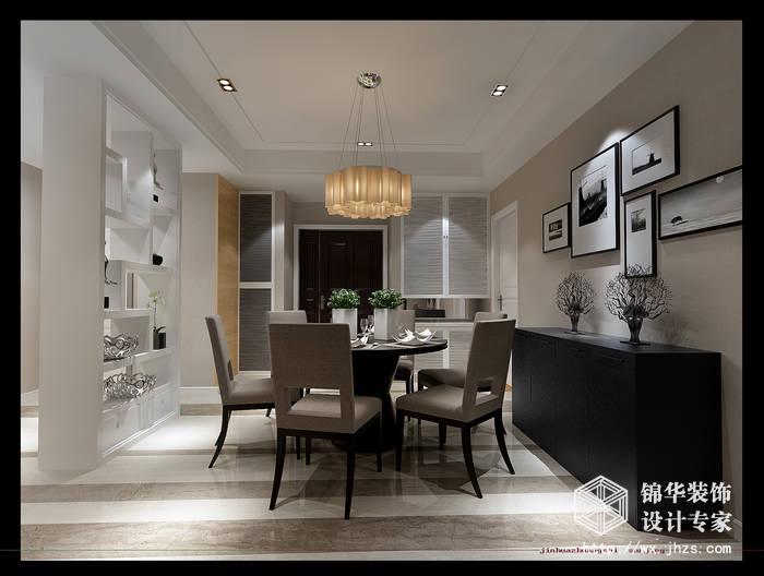 无锡金色阳光三室两厅简约风格装修效果图