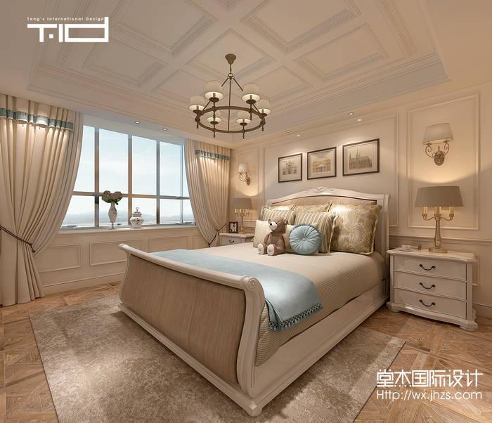 泰兴银杏小区290平美式风格效果图装修-别墅-美式田园