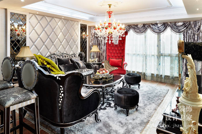 保利香槟国际190平后奢华风格实景样板间