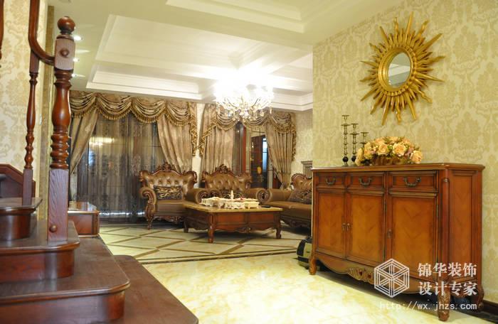 长江国际泓园250平复式结构古典欧式风格实景装修-跃层复式-欧式古典