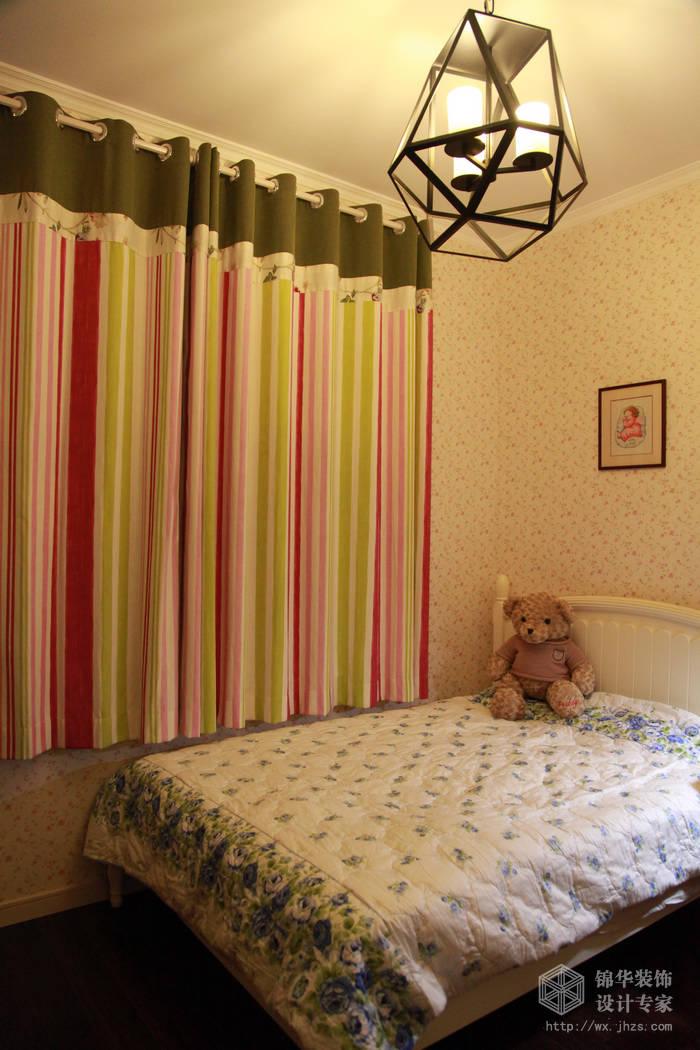 玉兰花园115平美式风格实景样板间装修-三室两厅-美式田园