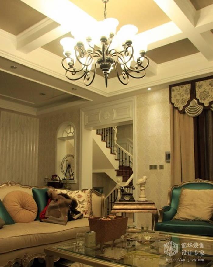 蠡湖公馆欧式风格联排别墅实景样板间装修-别墅图片大全-欧式古典风格