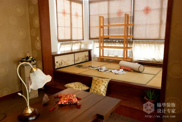 混搭风格-百大奥澜半岛-三室两厅-128平-阳光房-装修效果实景图