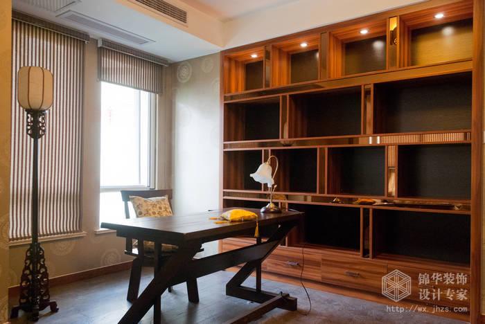 混搭风格-百大奥澜半岛-三室两厅-128平-书房-装修效果实景图