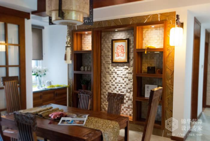 混搭风格-百大奥澜半岛-三室两厅-128平-餐厅-装修效果实景图