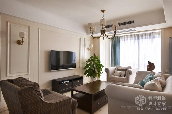 时代上河121平三室两厅两卫美式风格实景图