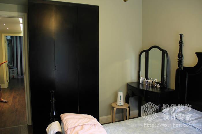 太湖国际现代美式风格实景样板间装修 三室两厅装修效果图 美式乡村