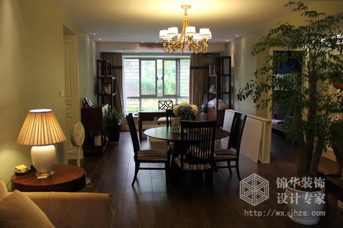 太湖国际现代美式风格实景样板间装修-三室两厅-美式田园