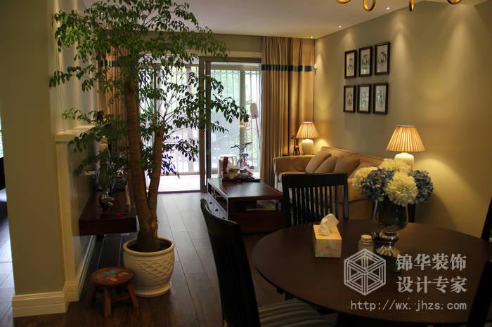 太湖国际现代美式风格实景样板间装修 三室两厅装修