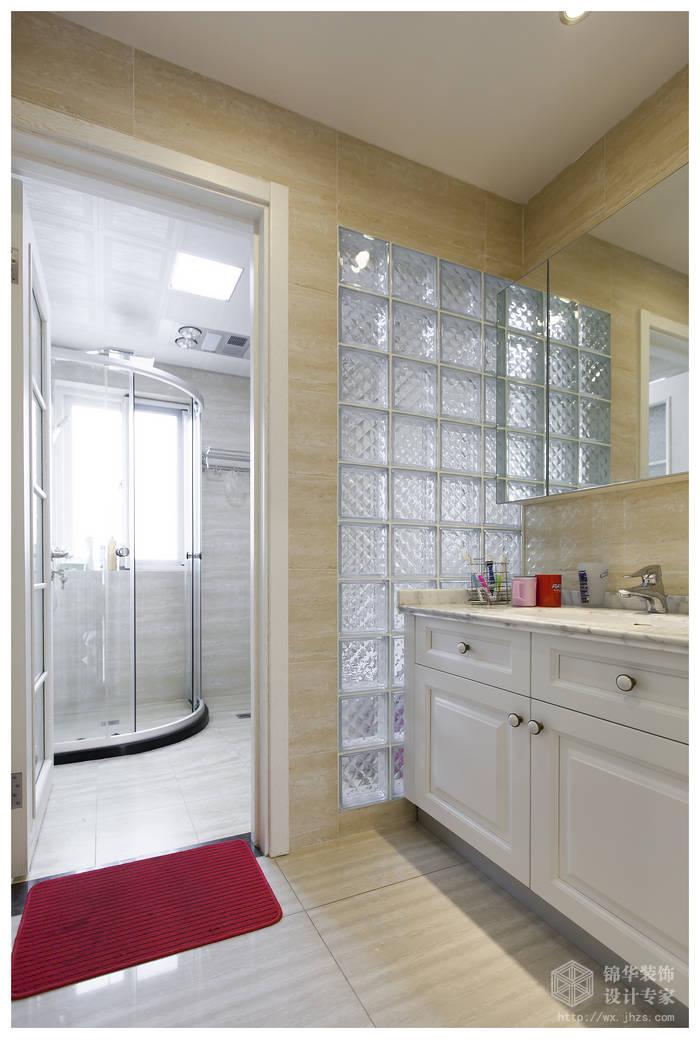 现代简约风格-复地公园城邦-三室两厅-130平米-卫生间-装修实景效果图