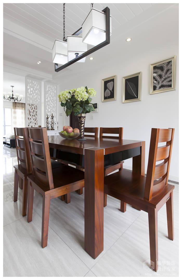 现代简约风格-复地公园城邦-三室两厅-130平米-餐厅-装修实景效果图