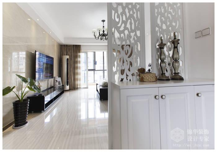 现代简约风格-复地公园城邦-三室两厅-130平米-玄关-装修实景效果图