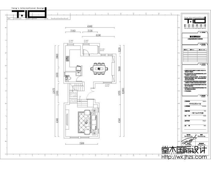 华府庄园300平美式风格效果图装修-别墅-简欧