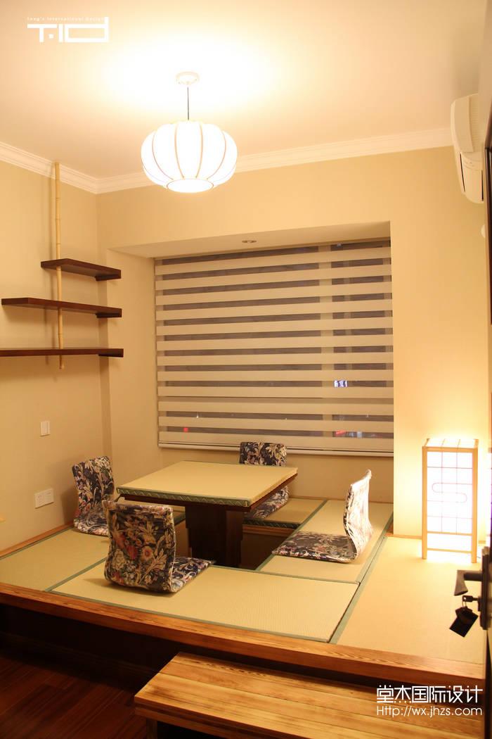 万达广场108平三室两厅一卫新中式风格实景图装修-三室两厅-新中式