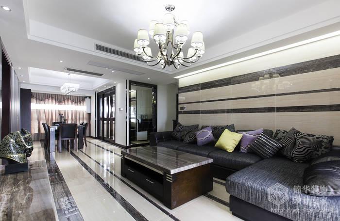 万达广场128平现代简约风格实景样板间装修-三室两厅-现代简约