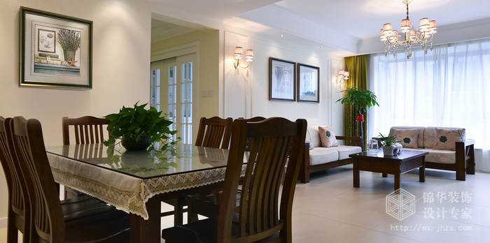 瑜憬湾四期140平方四室两厅两卫美式田园风格实景样板间装修-三室两厅-美式田园
