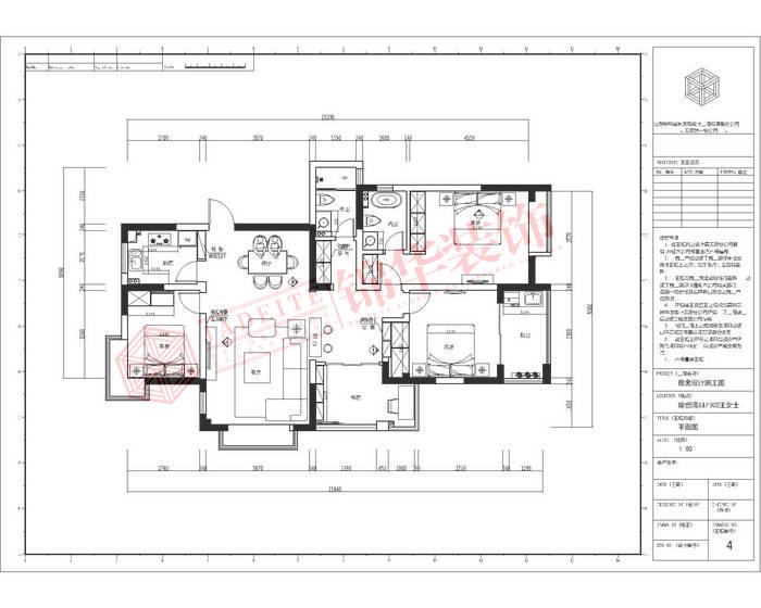 瑜憬湾四期140平方四室两厅两卫简欧风格实景样板间装修-三室两厅-简欧