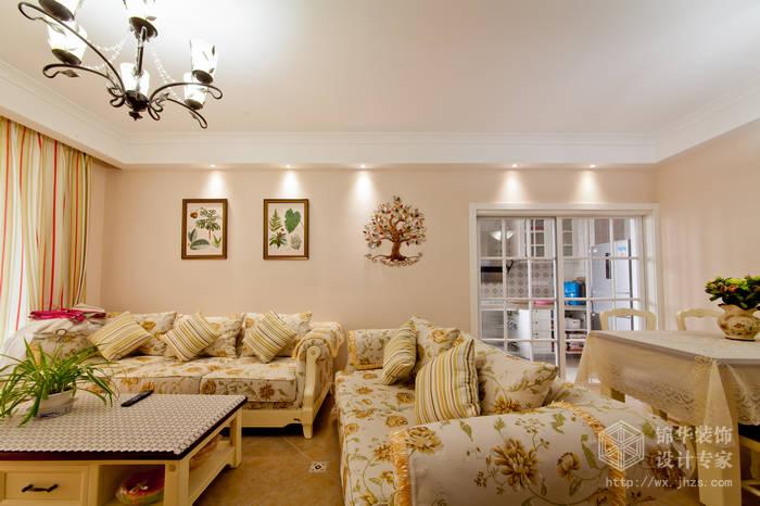 装修 两室两厅装修效果图 美式乡村 田园 风格 无锡锦华装饰