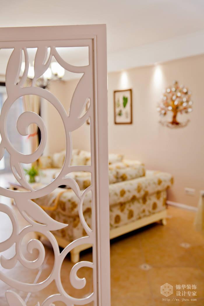 两室两厅装修效果图 美式乡村 田园 风格 无锡锦华装饰
