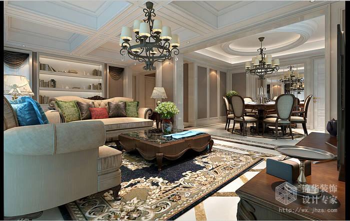 瑜憬湾120平三房两厅两卫简欧风格效果图装修-三室两厅-简欧