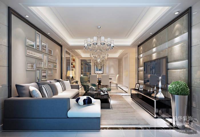 梁南苑126平三房两卫两厅现代简约风格效果图装修-三室两厅-现代简约