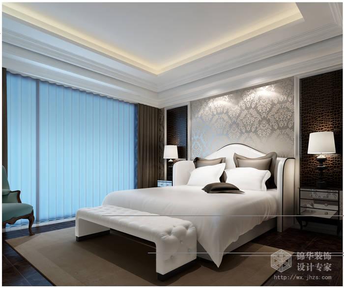 后现代风格-金科世界城三期-三室两厅-127平米-卧室-装修效果图