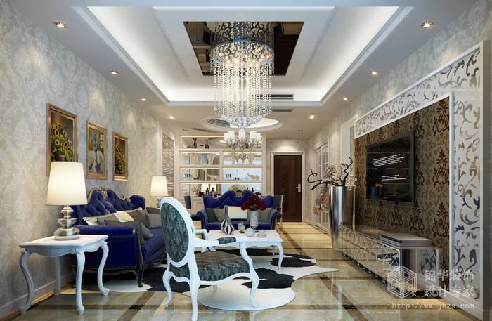 后现代风格-金科世界城三期-三室两厅-127平米-客厅-装修效果图
