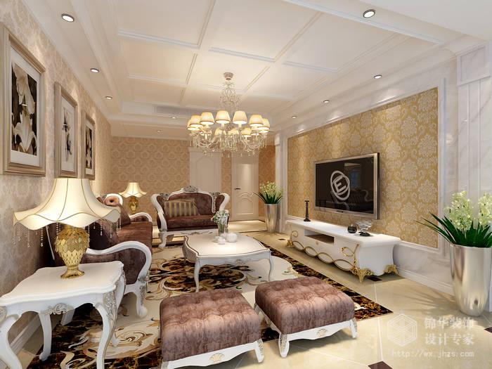 简欧风格-润泽雅居-三室两厅-145平米-装修效果图