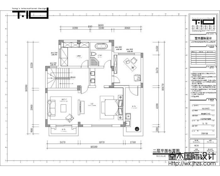 美式风格-绿地香颂-别墅-户型图-装修效果图