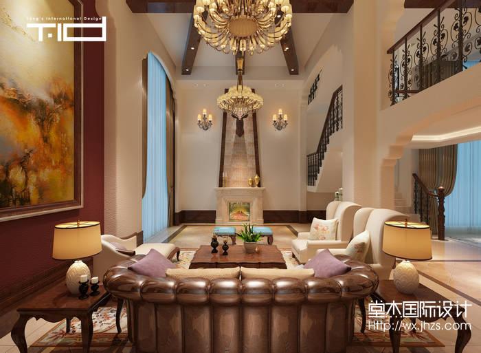 绿地香颂联排别墅美式风格效果图装修-别墅图片大全