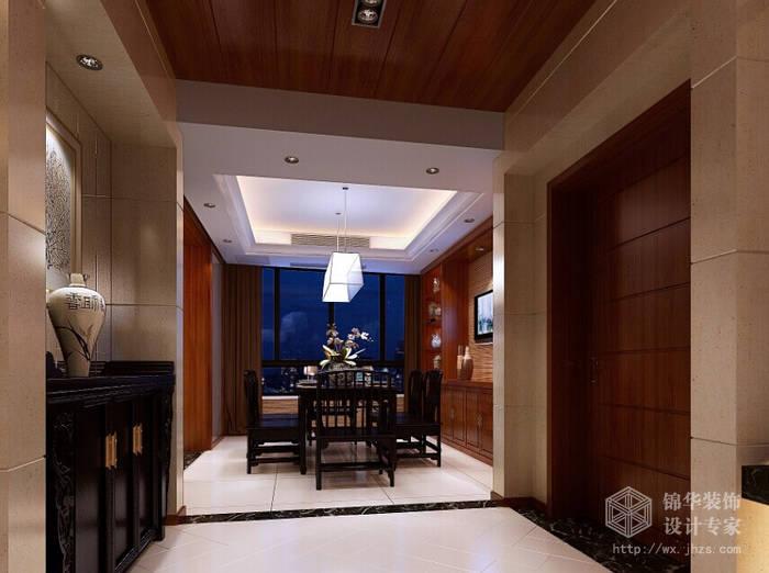 春江花园150平中式风格效果图装修-大户型-新中式