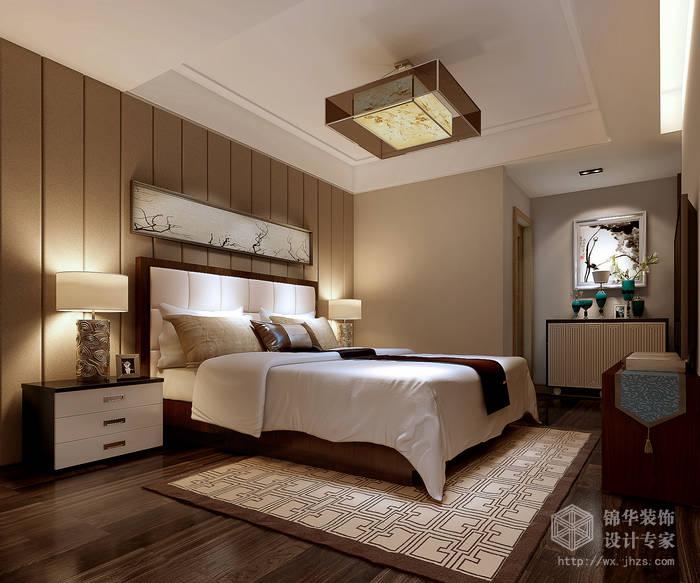 简中风格-国信世家-四室两厅-200平-卧室-装修效果图