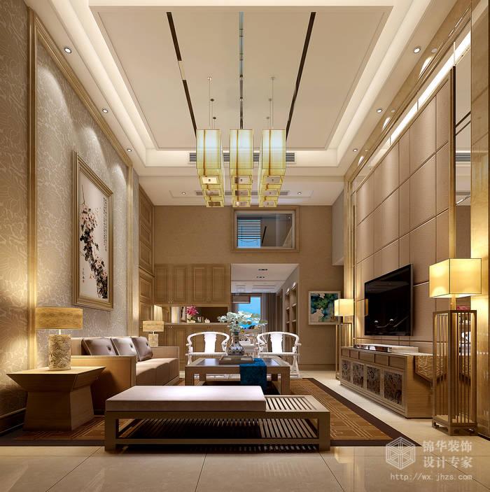 简中风格-国信世家-四室两厅-200平-客厅-装修效果图