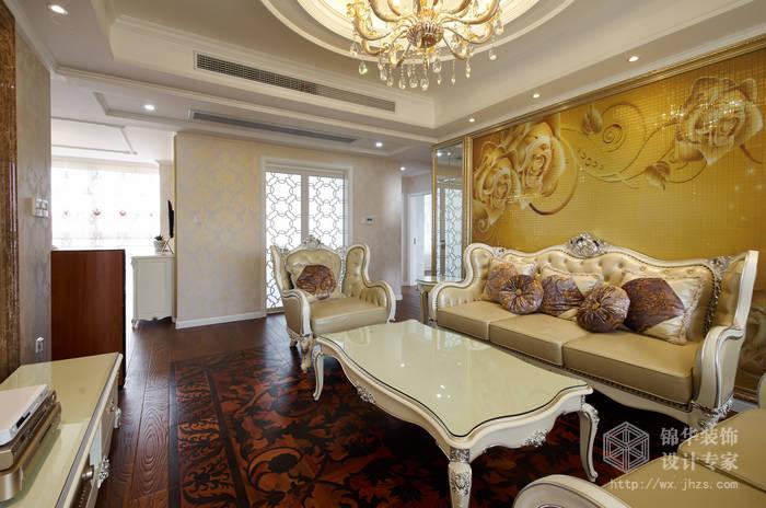 简欧风格-红星国际-三室两厅-130平-装修实景效果图