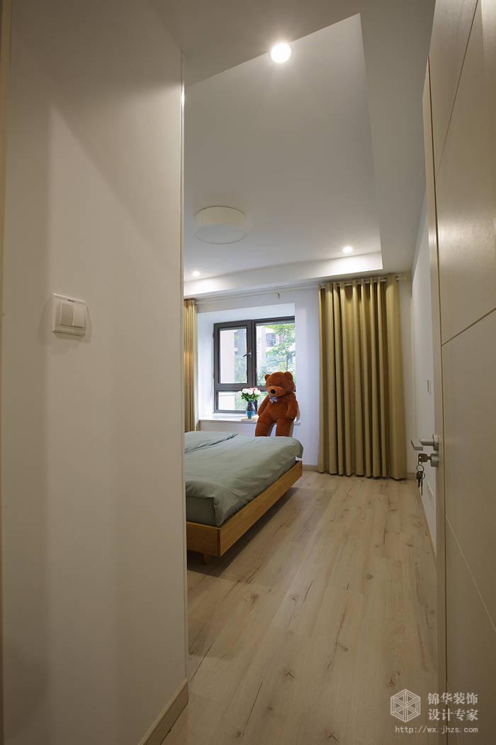 京梁合90平两室两厅现代简约风格实景样板间装修-两
