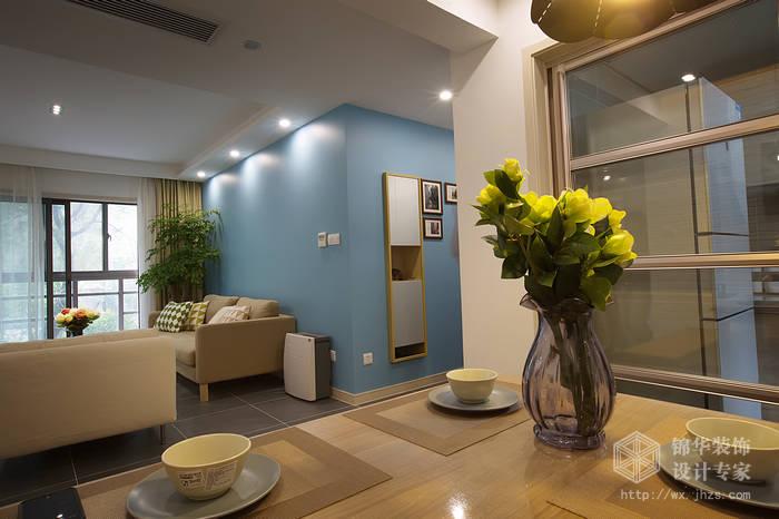 京梁合90平两室两厅现代简约风格实景样板间装修 两室两厅装修效果