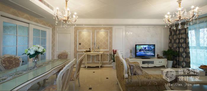 山水湖滨140平简欧风格实景样板间装修 三室两厅装修效果图 简欧风格