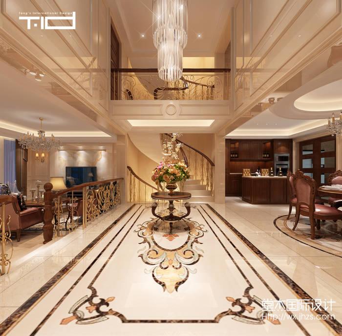 复地澜湾480平欧式风格别墅效果图装修-别墅-欧式古典